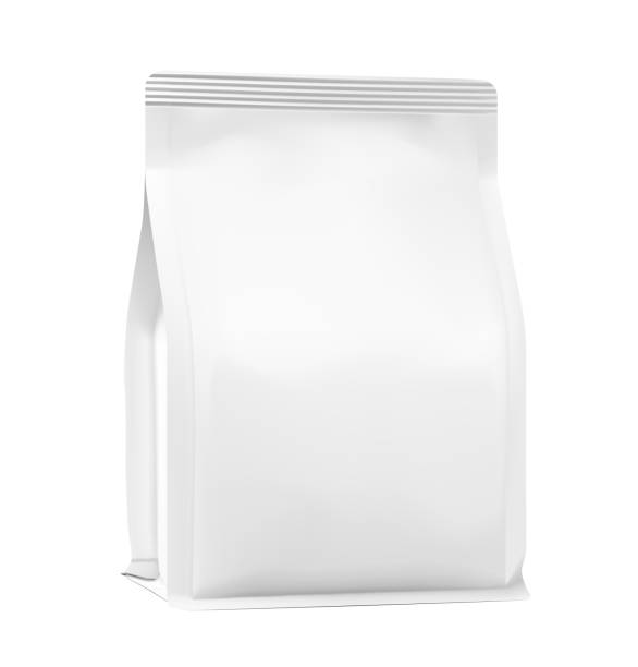 perfect quality vertical bag mockup. front view. - dog treats stock illustrations