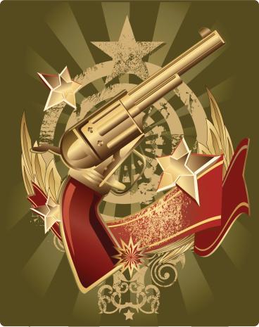 Идеальным Эмблема Shooter — стоковая векторная графика и другие изображения на тему Без людей