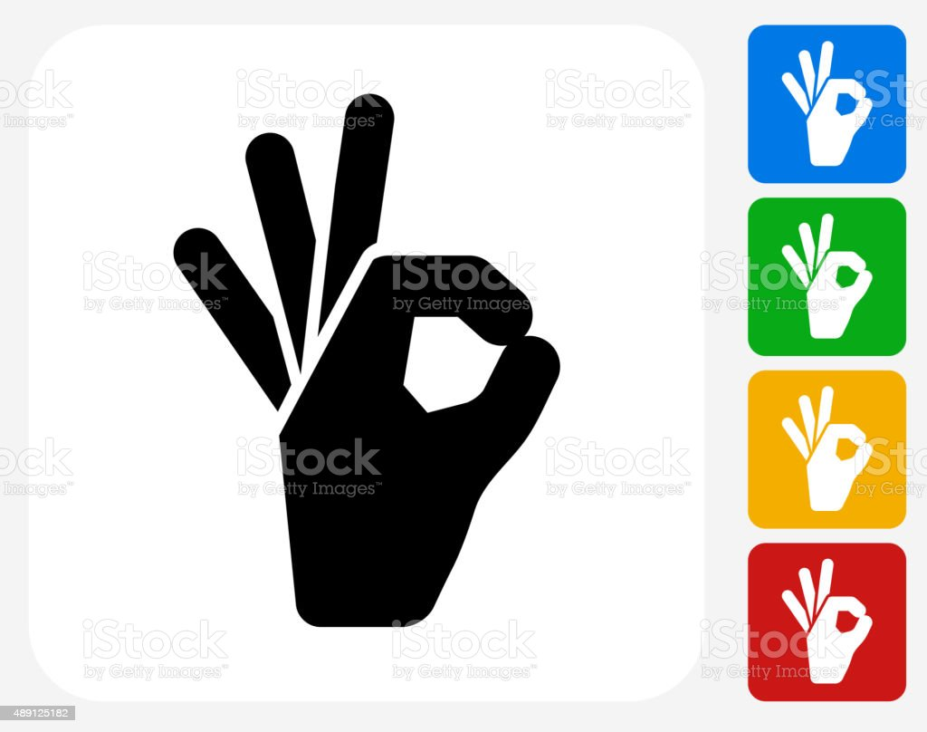 Perfect Sign Icon Flat Graphic Design vector art illustration