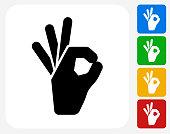Perfect Sign Icon Flat Graphic Design