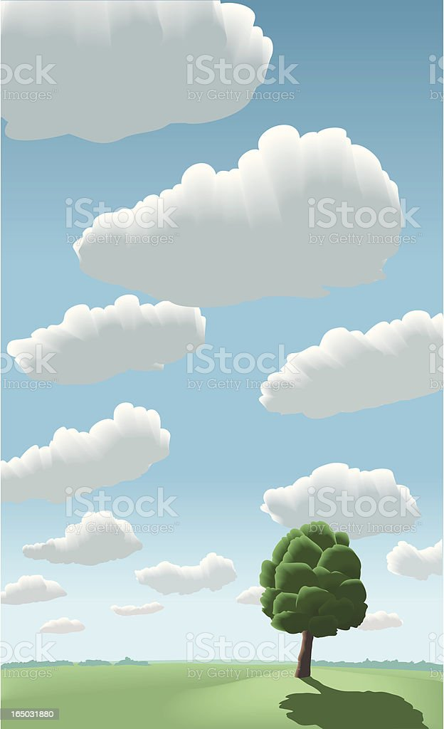perfect summer day royalty-free stock vector art