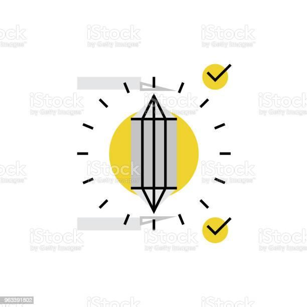 Ikona Monoflatu Z Detalami Perfekcji - Stockowe grafiki wektorowe i więcej obrazów Abstrakcja