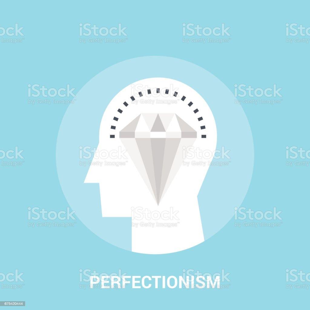 concept d'icône de perfectionnisme concept dicône de perfectionnisme – cliparts vectoriels et plus d'images de carré - composition libre de droits