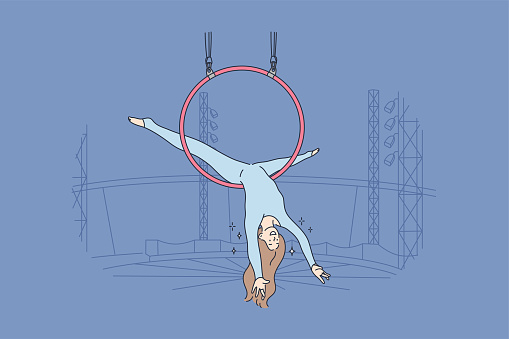 Perfomance, sport, art, acrobatics, air concept