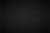 Perforated black metallic background, abstract background vector illustration