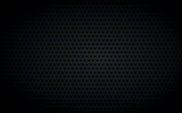 perforiert schwarz metallic hintergrund, abstrakt wallpaper, vektor-illustration - lederverarbeitung stock-grafiken, -clipart, -cartoons und -symbole