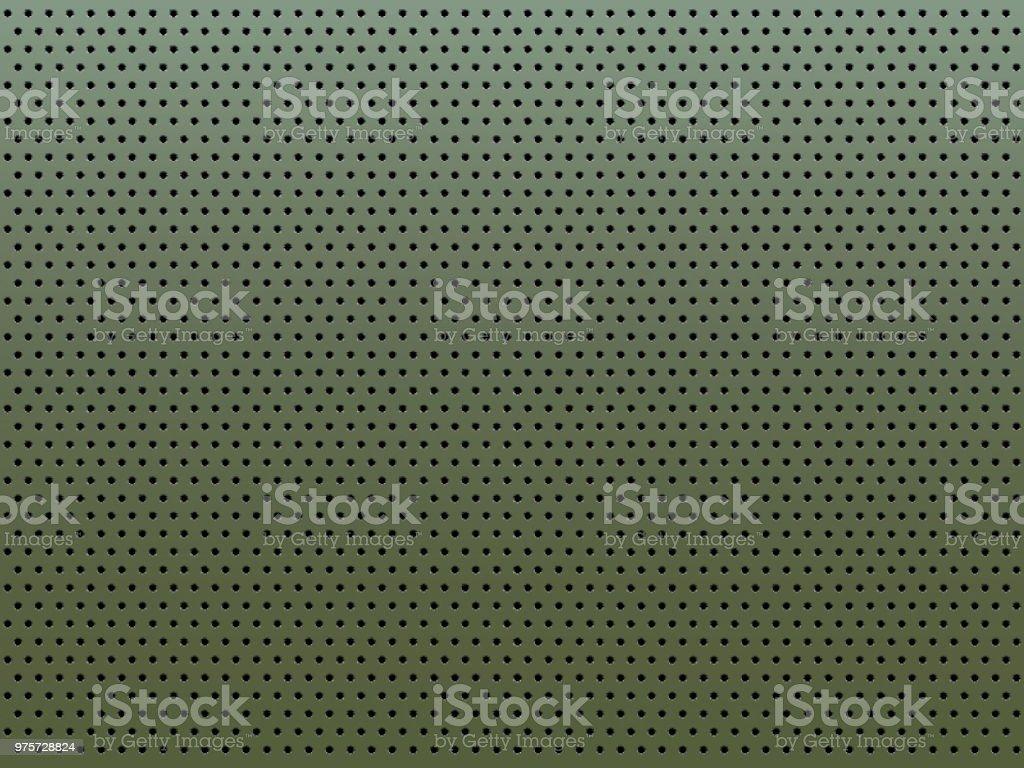 Metallplatte mit runden Löchern perforiert. - Lizenzfrei Baugewerbe Vektorgrafik