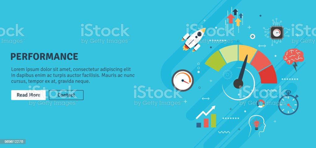 Performance and efficiency, growth in business with icons. royalty-free performance and efficiency growth in business with icons stock illustration - download image now