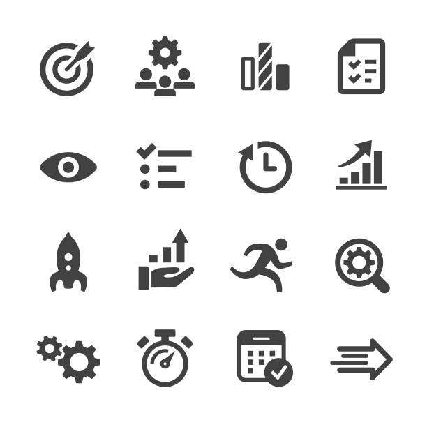 Performance and Management Icons - Acme Series Performance, Management, survey icon stock illustrations