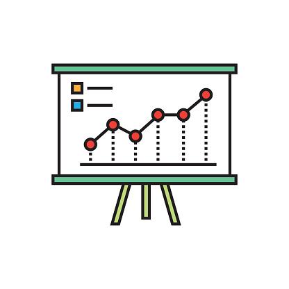 Performance Chart Flat Line Design
