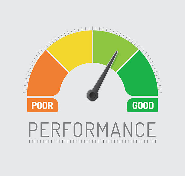 Performance Chart Performance Chart meter instrument of measurement stock illustrations