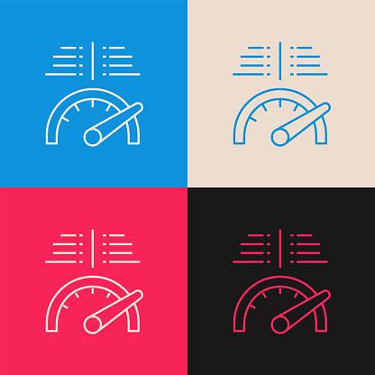 Performance Comparison multi color icon