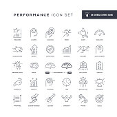 29 Performance Icons - Editable Stroke - Easy to edit and customize - You can easily customize the stroke with