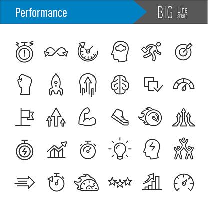 Performance Icons - Big Line Series