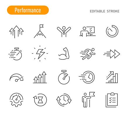Performance Icons - Line Series - Editable Stroke