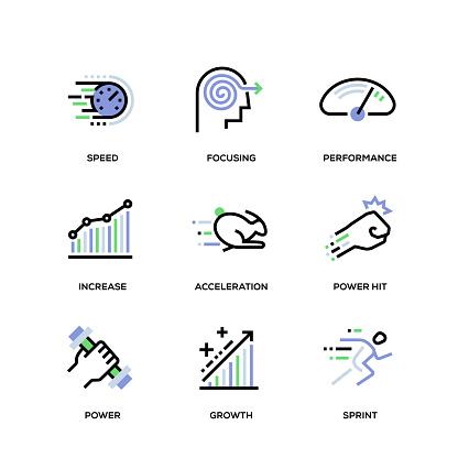Performance Line Icon Set