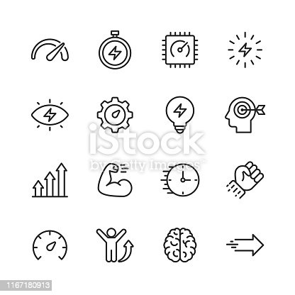 16 Performance Outline Icons.