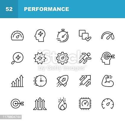 20 Performance Outline Icons.