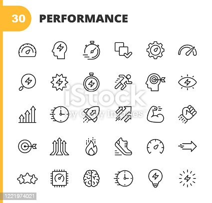 30 Performance Outline Icons.