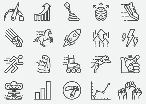 Performance Line Icons