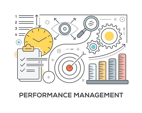 Performance Management Concept with icons