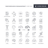 29 Performance Management Icons - Editable Stroke - Easy to edit and customize - You can easily customize the stroke width