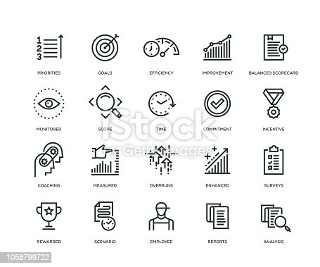 Performance Management Icons - Line Series