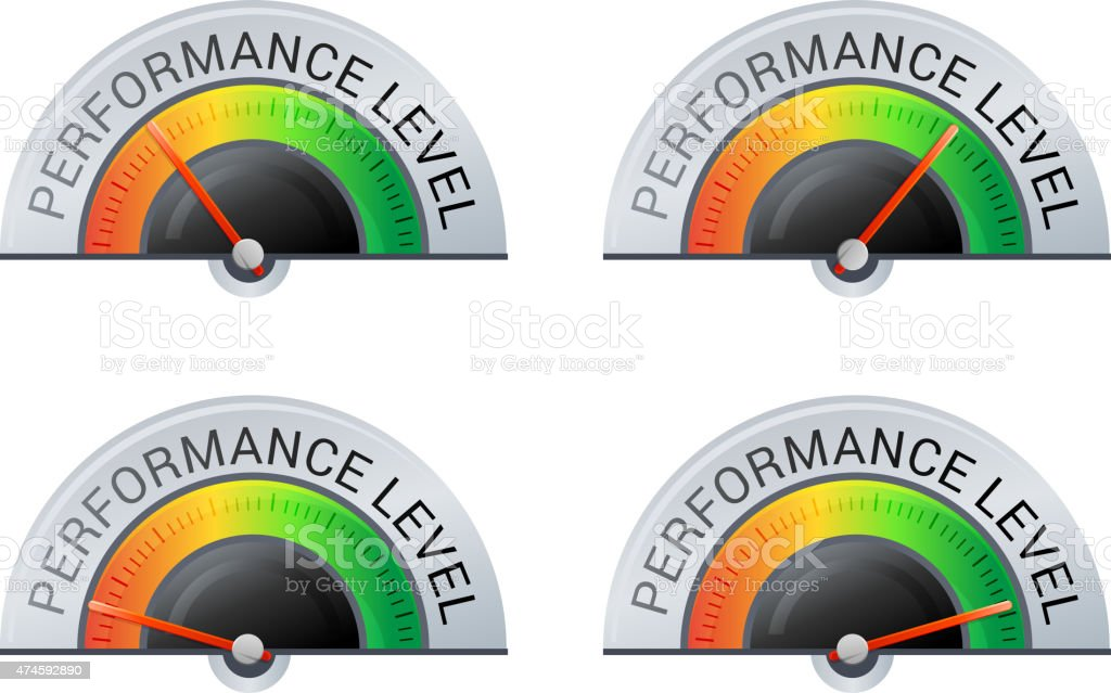 Performance Meter 4 Stage Illustration Stock Vector Art & More ...