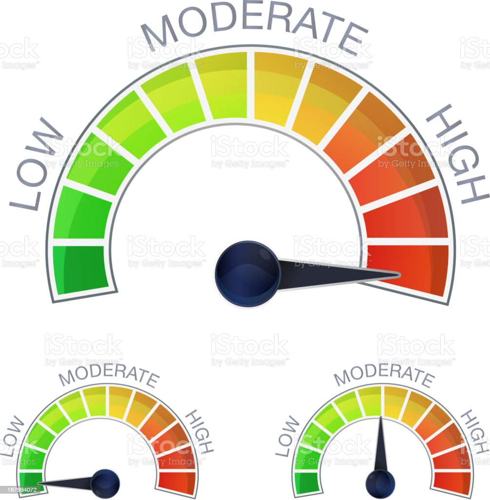 Performance Meter vector art illustration