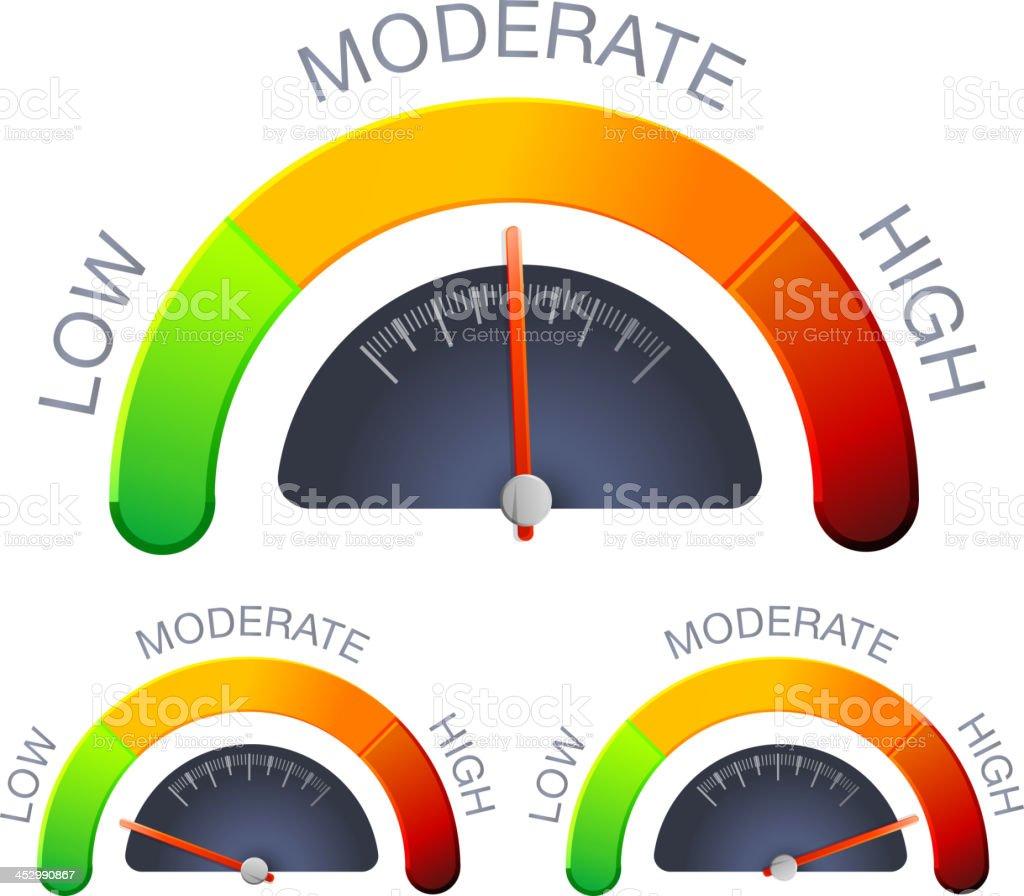 Performance Meter vector art illustration