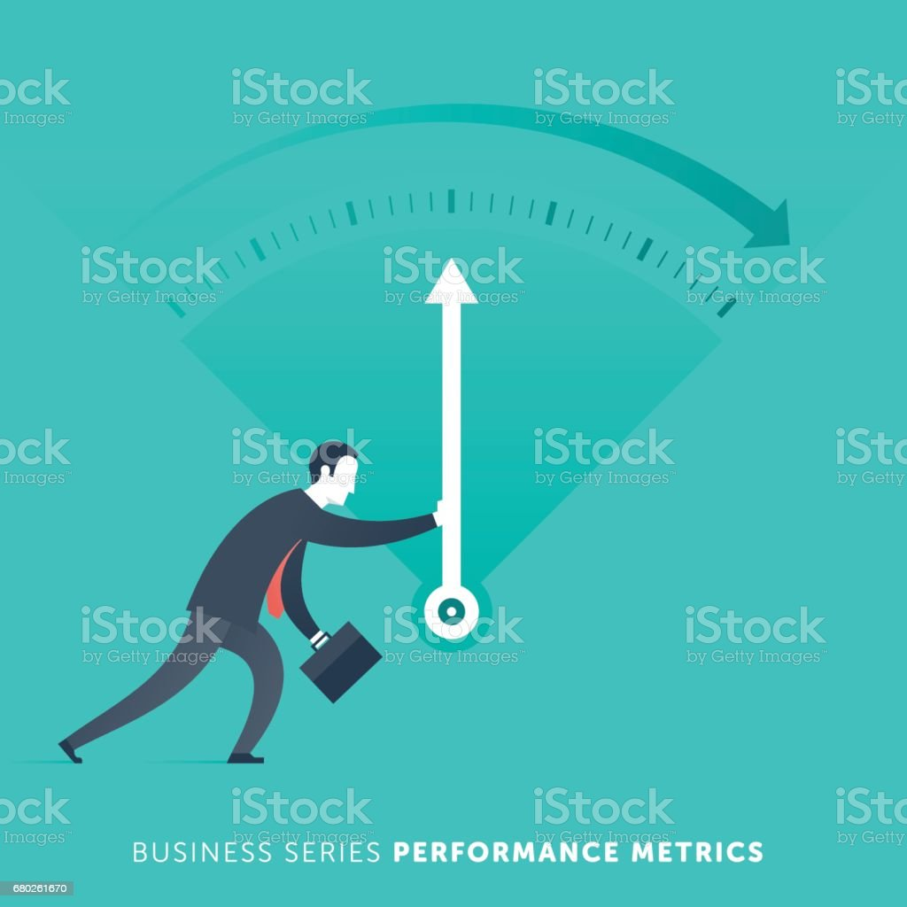 Performance Metrics vector art illustration