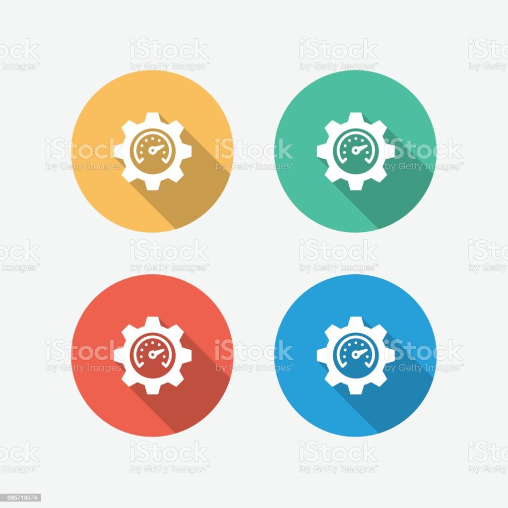 Performance Multi Colored Circle Flat Icon royalty-free performance multi colored circle flat icon stock vector art & more images of adult