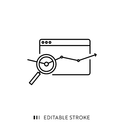 Performance Single Line Icon with Editable Stroke and Pixel Perfect.