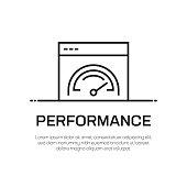 Performance Vector Line Icon - Simple Thin Line Icon, Premium Quality Design Element