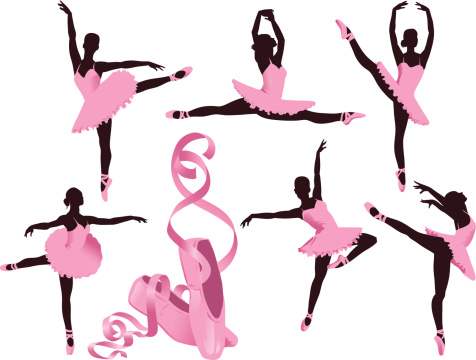 Performing Ballerinas and Ballet Shoes