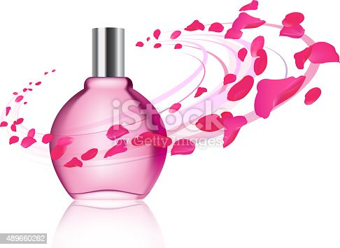 istock Perfume and rose petals 489660262