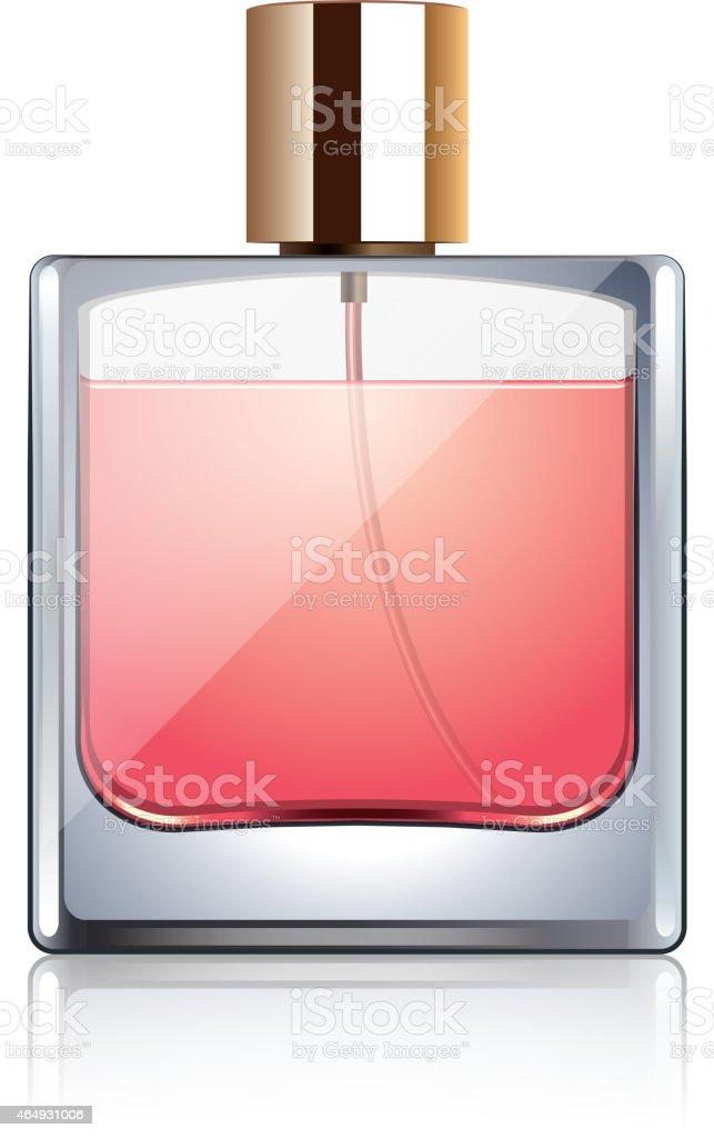 Perfume garrafa isolada no branco, vetor - ilustração de arte em vetor