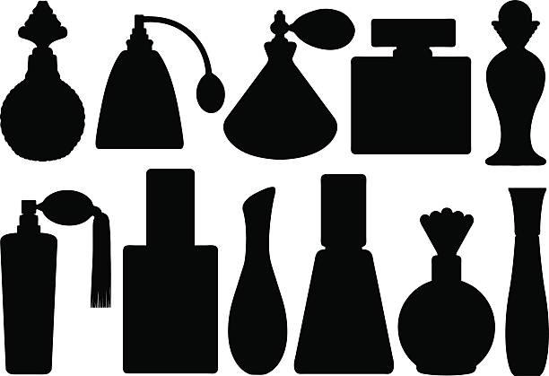 illustrazioni stock, clip art, cartoni animati e icone di tendenza di bottiglie di profumo - profumi spray