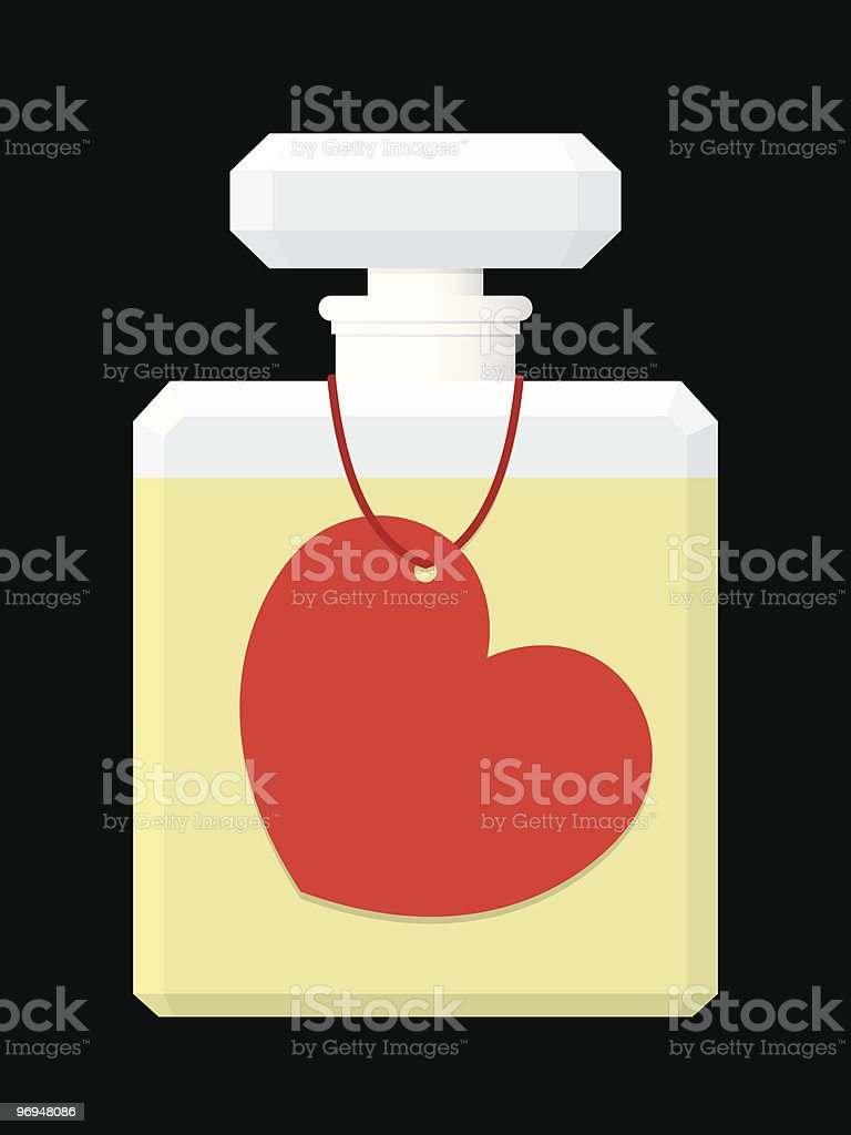 Perfume flask with heart tag royalty-free perfume flask with heart tag stock vector art & more images of art and craft