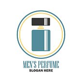 Perfume Fragrance Icon With Text Space For Your Slogan Tag Line