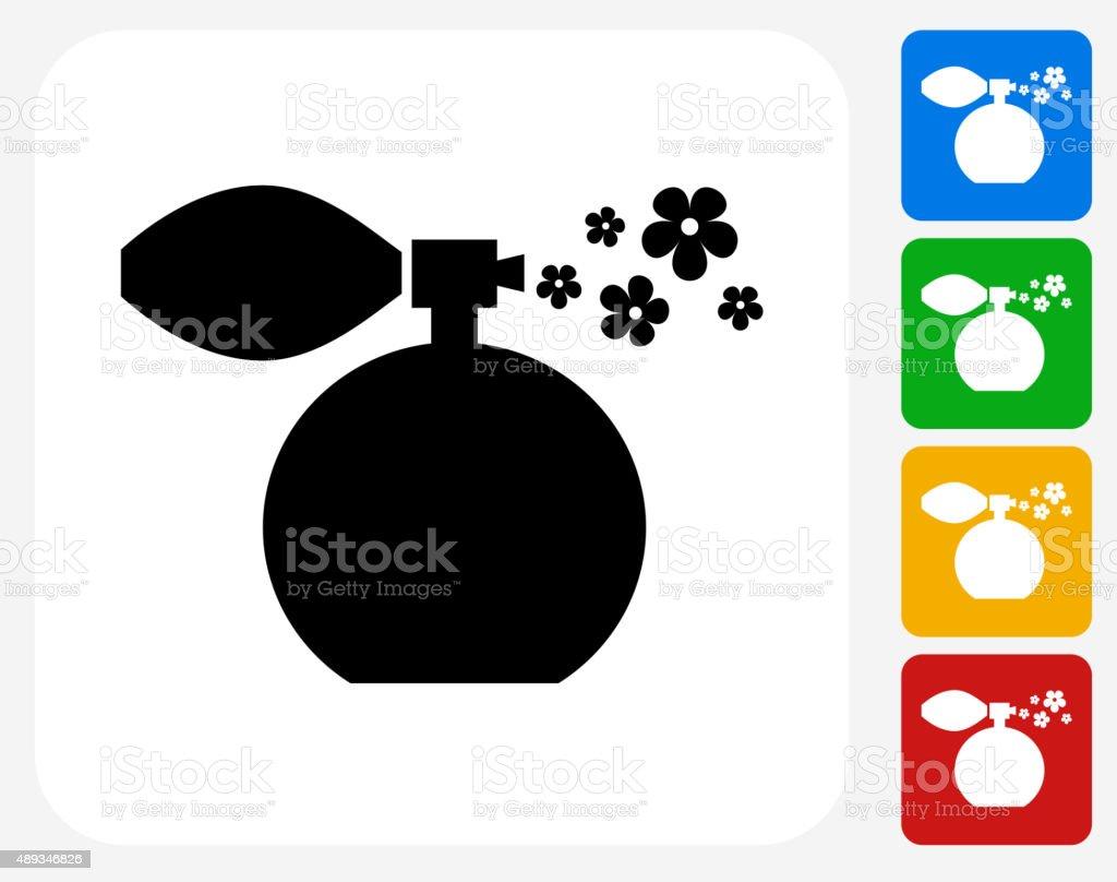Perfume plana ícone de Design gráfico - ilustração de arte em vetor