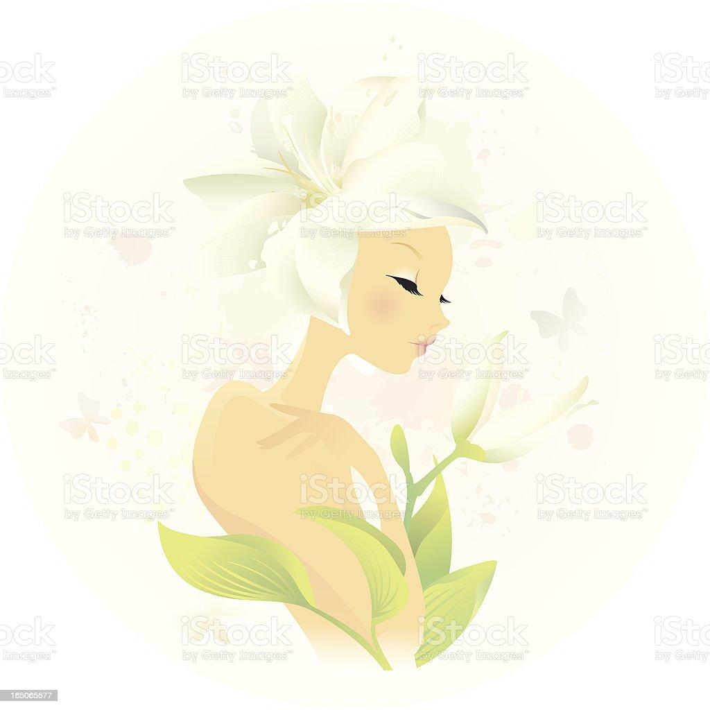 Perfume Lily royalty-free stock vector art