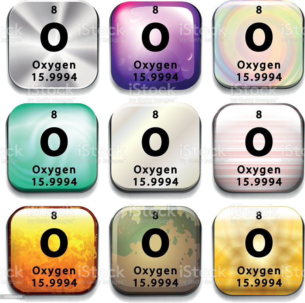 Periodic table button showing oxygen stock vector art 535339095 periodic table button showing oxygen royalty free stock vector art gamestrikefo Images