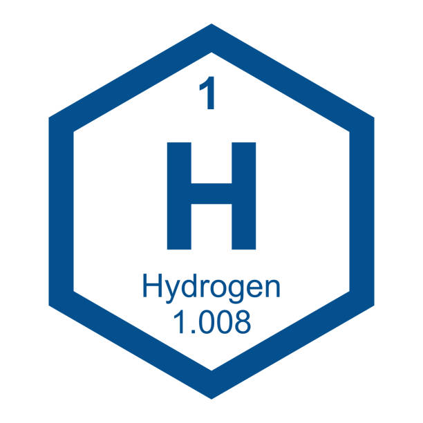 stockillustraties, clipart, cartoons en iconen met periodic table hydrogen - waterstof