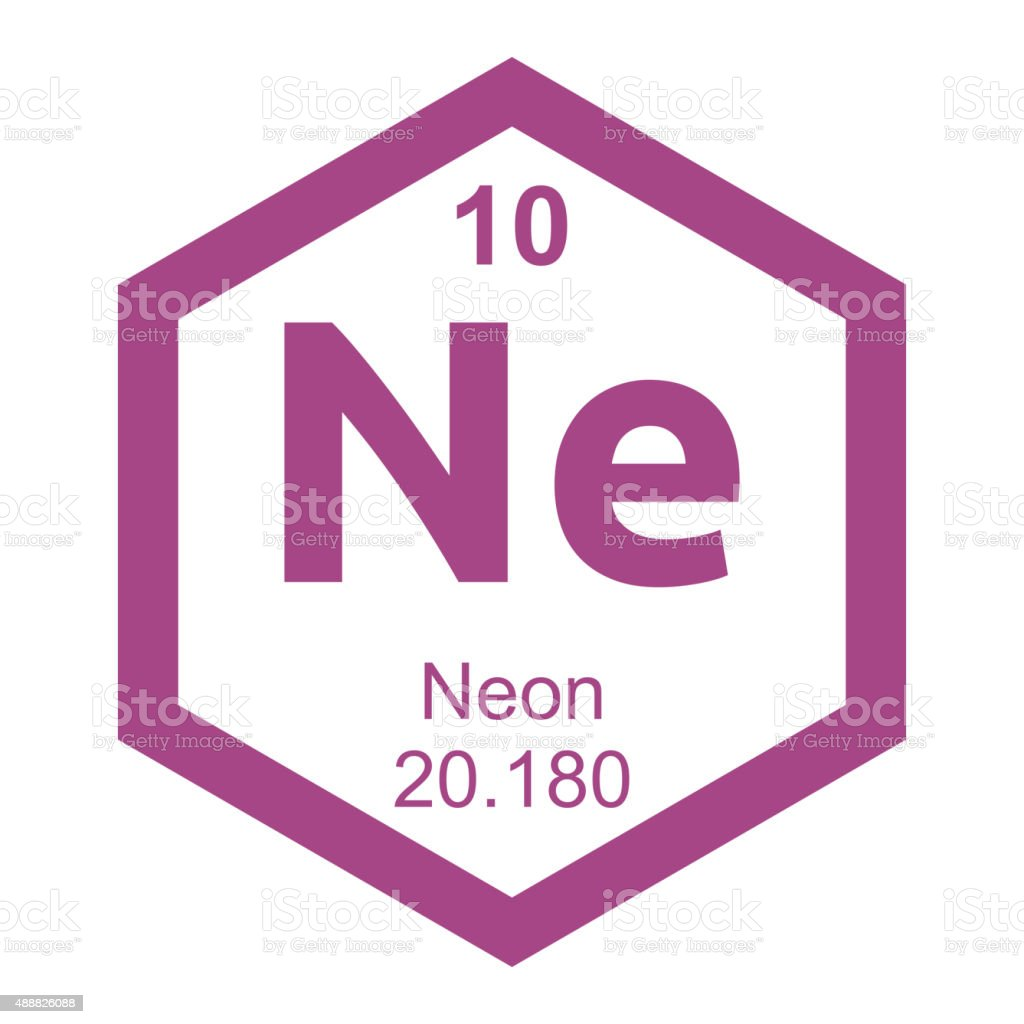 periodic table neon element royalty free periodic table neon element stock vector art - Periodic Table Of Elements Neon
