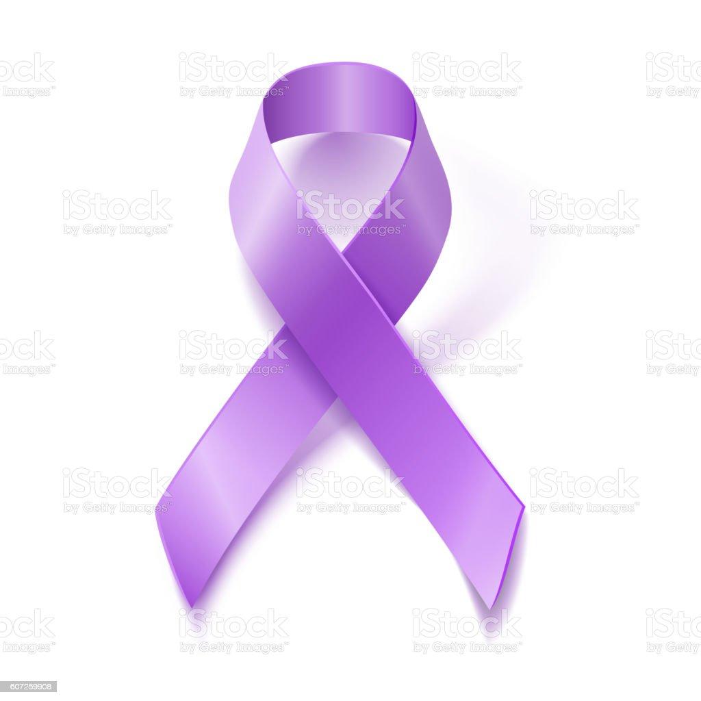 Periwinkle ribbon. Eating Disorder awareness symbol vector art illustration