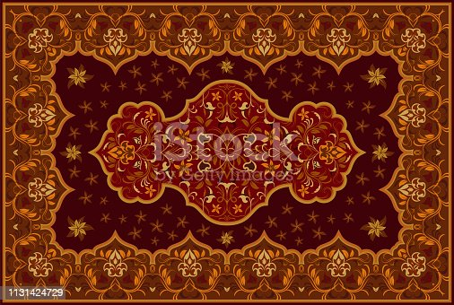 istock Persian colored carpet. 1131424729