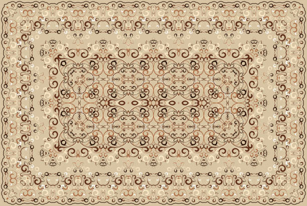 persisch gefärbter teppich. - wollteppich stock-grafiken, -clipart, -cartoons und -symbole
