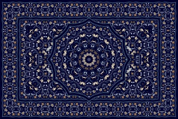stockillustraties, clipart, cartoons en iconen met perzisch gekleurd tapijt. - turkse cultuur