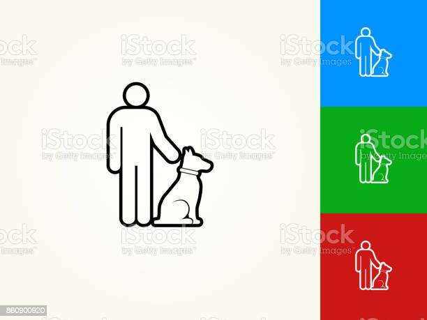 Person and dog black stroke linear icon vector id860900920?b=1&k=6&m=860900920&s=612x612&h=mqf9wsdhylzig 8fpqrts38 71bnepy4ckdqm70d5tq=